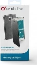 Cellular Line Essential Book Μαύρο (Galaxy S6)