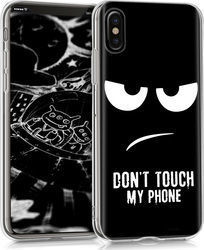 KW Back Cover Σιλικόνης Don't Touch My Phone Μαύρο (iPhone X/Xs)