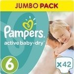 Pampers Active Baby Dry No 6 (15+kg) 42τμχ