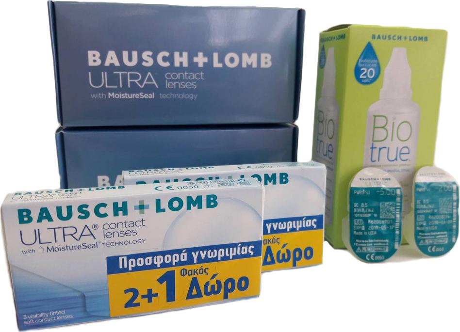 Bausch   Lomb Bausch   Lomb Ultra Μηνιαίοι (6+2) 8τμχ + Biotrue 60ml  Μυωπίας-Υπερμετρωπίας Μηνιαίοι 8τμχ f75a65b98ba