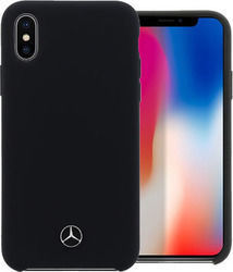 Mercedes Lining Back Cover Σιλικόνης Μαύρο (iPhone X/Xs)