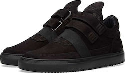 Filling Pieces Low Top Double Strap All Black