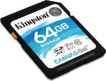 Kingston Canvas Go! SDXC 64GB U3 V30