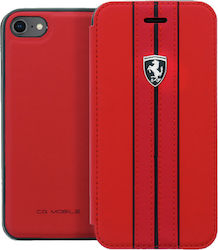 Ferrari Off Track Leather Book Κόκκινο (iPhone 8/7)
