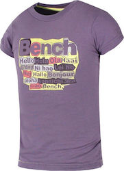 BENCH GIRLS T-SHIRT - 111BE-00558-PURPLE