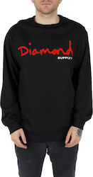 DIAMOND Φούτερ λαιμόκοψη OG SCRIPT LONG SLEEVE TEE SP18