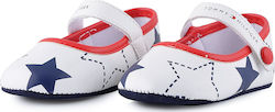 Tommy Hilfiger Newborn Ballerina Stars | Βρεφικά Παπούτσια T0A3-00103-0045-Y003 - WHITE/BLUE/RED