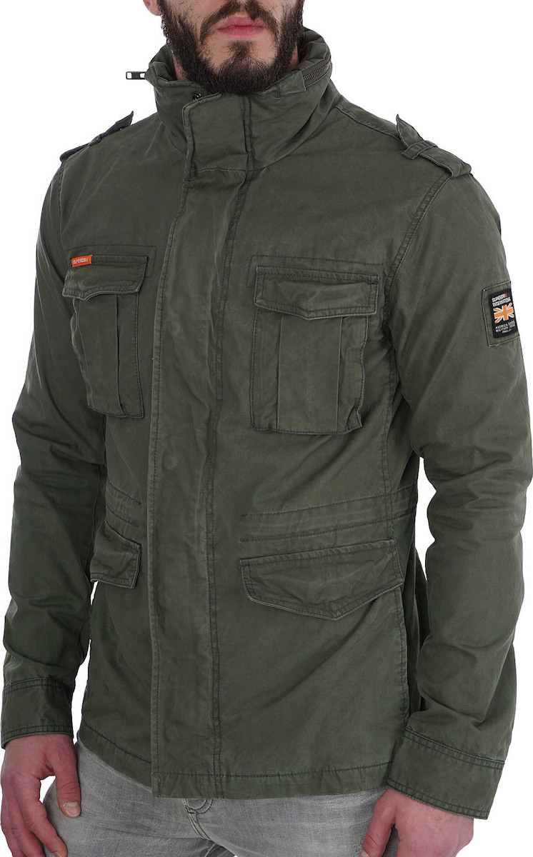 Superdry Casual Rookie Military Χακί Με Κουκούλα Εσωτερική - Skroutz.gr e57f1bc0b16