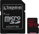 Kingston Canvas React microSDXC 64GB U3 V30 A1 with Adapter
