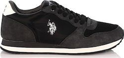 US POLO - Sneakers - ΜΑΥΡΟ - SHERIDAN1 CLUB ΑΝΔΡ.ΥΠΟΔΗΜΑ