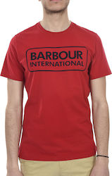 BARBOUR T-SHIRT KM TAILORED FIT INTERNATIONAL ΚΟΚΚΙΝΟ