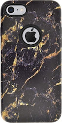 4-OK Marble Back Cover Χρυσό/Μαύρο (iPhone 8/7)