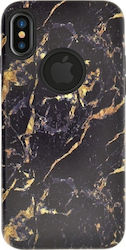 4-OK Marble Back Cover Black Gold (iPhone X)