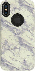 4-OK Marble Back Cover Λευκό (iPhone X)