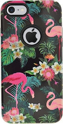4-OK Flamingo Back Cover Μαύρο (iPhone 8/7)