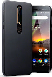 Terrapin Back Cover Σιλικόνης Solid Black Matte (Nokia 6 2018)