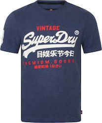 Superdry Premium Goods Duo Tee Blue