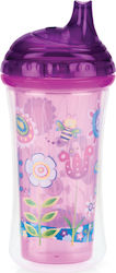 Nuby Ποτηράκι Insulated Hard Spout No Spill Purple 270ml