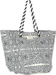 Roxy Sunseeker Straw Beach Bag ERJBT03084-WBT4 Marshmallow Tribal Vibes Strip