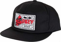 OBEY SHOUT SNAPBACK CAP BLACK