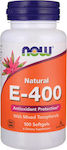 Now Foods E-400IU Mixed Tocopherols Unesterified 100 μαλακές κάψουλες