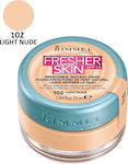 Rimmel Fresher Skin Skin Foundation SPF15 102 Light Nude 25ml