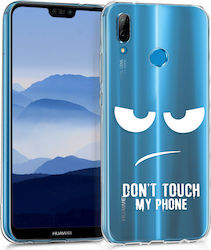KW Back Cover Σιλικόνης Don't Touch My Phone Λευκό (Huawei P20 Lite)
