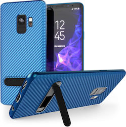 Caseflex Carbon Fiber Back Cover Μπλε (Galaxy S9)