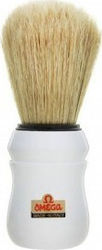Omega S10049 S-Brush Fiber Shaving Brush White