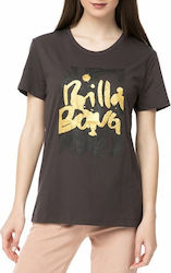 BILLABONG - Γυναικείο t-shirt BILLABONG GANGSTA μαύρο