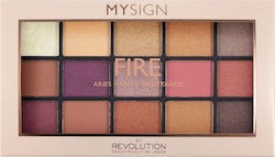 Makeup Revolution My Sign Eyeshadow Palette Fire