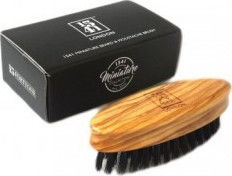 1541 London Miniature Beard Brush Olivewood BB04