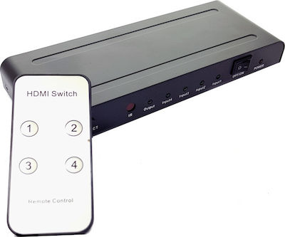 Powertech Premium Quality HDMI 1.4 Switch 4x input, EU Power adapter