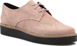 Suede υπόδημα τύπου Oxford 40 Κ NUDE
