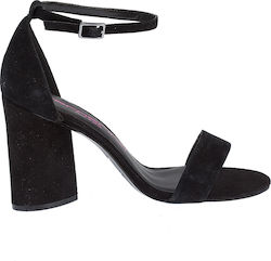 FORNARINA VIC CLEAR BLACK SUEDE