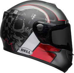 Bell SRT Hart Luck Charcoal/White/Red Skull