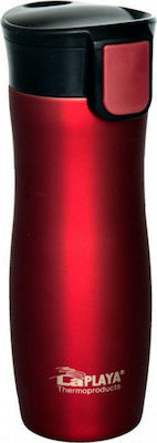 Laplaya One Hand Thermo Drink Mug Red 0.4lt