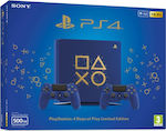 Sony PlayStation 4 Slim Days of Play Limited Edition 500GB & DualShock 4