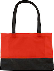 Τσάντα Shopping Μικρή Hops Bags by Jassz PP-382910-SHO - Red/Black