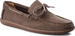 Μοκασίνια CLARKS - Saltash Edge 261322587 Dark Grey Sde