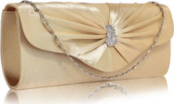 LS Bags LSE0067 Nude Sparkly Crystal