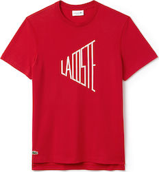 Lacoste Lettering Cotton Jersey Red