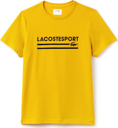 Lacoste Sport Lettering Technical Jersey Tennis Yellow