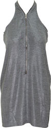 RELIGION W GLORYFIED DRESS - 68HGFD27-GREY MARL (SILVE SILVER