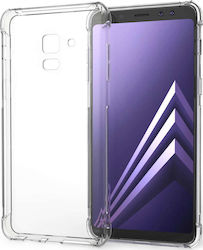 Caseflex Back Cover Σιλικόνης Διάφανο & Screen Protector (Galaxy A8+ (2018))