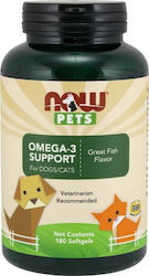 Now Foods Pets Omega 3 Support x 180 κάψουλες