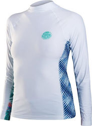 Rip Curl Womens All Over L/Sl White