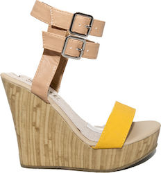 Famous Shoes RF1129-1 Yellow