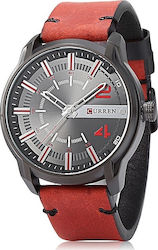 Curren 8306 Red / Black