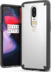 Ringke Fusion Bumper Back Cover Μαύρο (OnePlus 6)